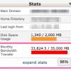ラクサバの月間転送量をオーバーしたのでサーバープランを変更してみた